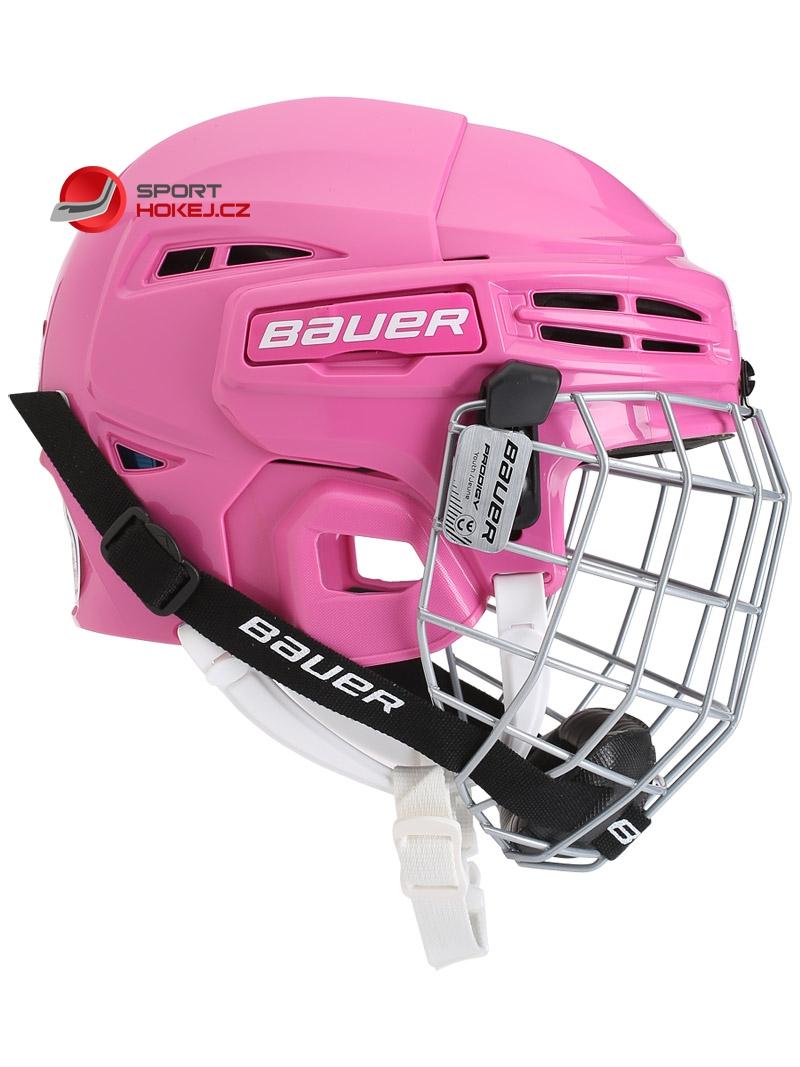 Hokejová helma BAUER Prodigy Combo Youth růžová ... 809f55585c