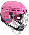 Hokejová helma BAUER Prodigy Combo Youth růžová