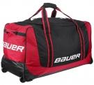 Hokejová taška na kolečkách BAUER 650 Medium černo-červená