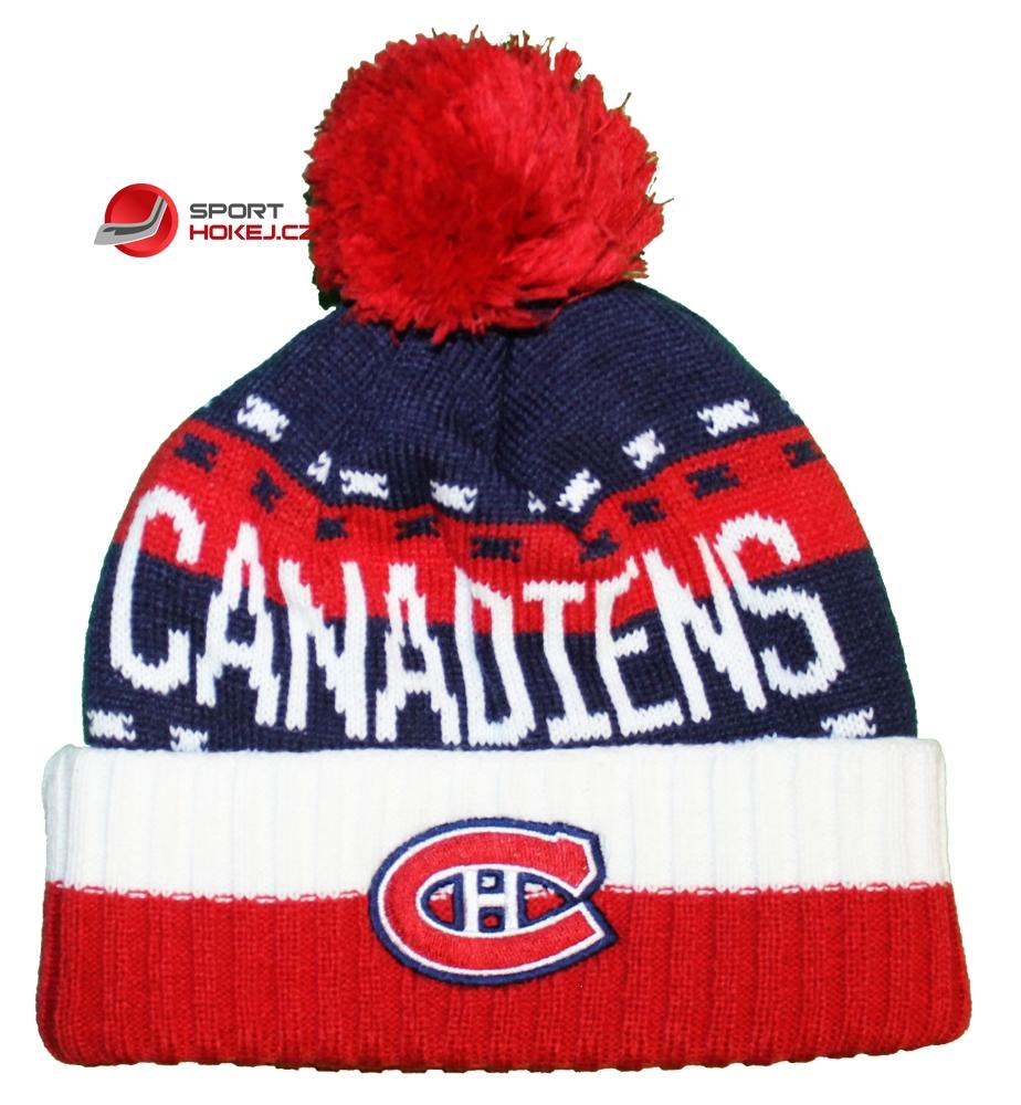 Zimní čepice kulich REEBOK NHL Team Name Cuff Pom Montreal Canadiens ... 4b6a9c1511