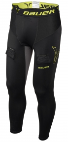 Hokejový suspenzor - Kalhoty BAUER Premium Compression Jock Pant YTH