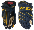 Hokejové rukavice CCM JetSpeed FT 370 JR modro-žluté