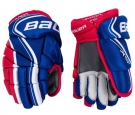 """Hokejové rukavice BAUER Vapor X800 Lite SR modro-červené - vel. 14"""""""
