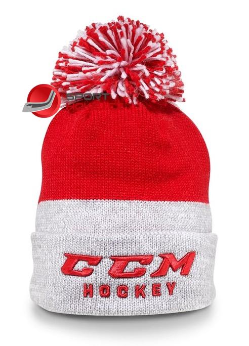 Zimní čepice kulich CCM True2Hockey červená  6b6b3eada4