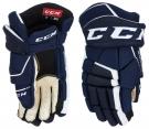 Hokejové rukavice CCM Tacks 9040 SR modro-bílé