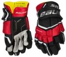 Hokejové rukavice BAUER Supreme S29 SR černo-červené