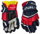 """Hokejové rukavice BAUER Supreme S29 JR modro-červeno-bílé - vel. 11"""""""
