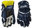 Hokejové rukavice BAUER Supreme S29 JR tmavě modré