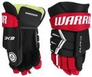 """Hokejové rukavice WARRIOR Alpha DX3 YTH černo-červené - vel. 8"""""""