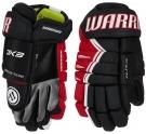 Hokejové rukavice WARRIOR Alpha DX3 SR černo-červené
