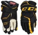 Hokejové rukavice CCM Tacks 9060 JR LTD černo-žluté