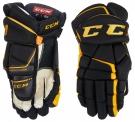 Hokejové rukavice CCM Tacks 9080 JR černo-žluté