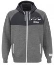 Mikina na rozepínání CCM Academy Full Zip šedá