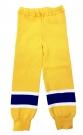 Dětské hokejové štulpny - kamaše žluto-modré Zlín