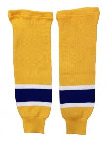 Hokejové štulpny pletené JR žluto-modré Zlín
