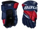 Hokejové rukavice BAUER Vapor 2X Pro JR modro-červené