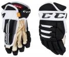 Hokejové rukavice CCM Tacks 4R Pro 2 SR černo-bílé