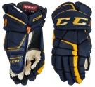 Hokejové rukavice CCM Tacks 9080 JR modro-žluté