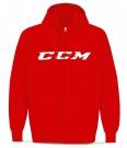 Mikina na rozepínání CCM CVC SR červená