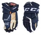 "Hokejové rukavice CCM Super Tacks AS1 SR tmavě modré - vel. 14"""