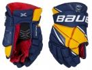 Hokejové rukavice BAUER Vapor X2.9 JR modro-žluté